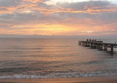 Sabal_Beach_Belize_Sunrise_Dock